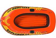 Лодка детская двухместная надувная Explorer 200 Intex 58330