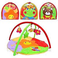 Развивающий коврик для младенца с игрушками Bambi 1301-02-03