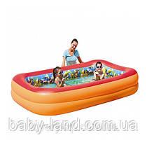Надувной бассейн с 3D рисунком Bestway BW 54114
