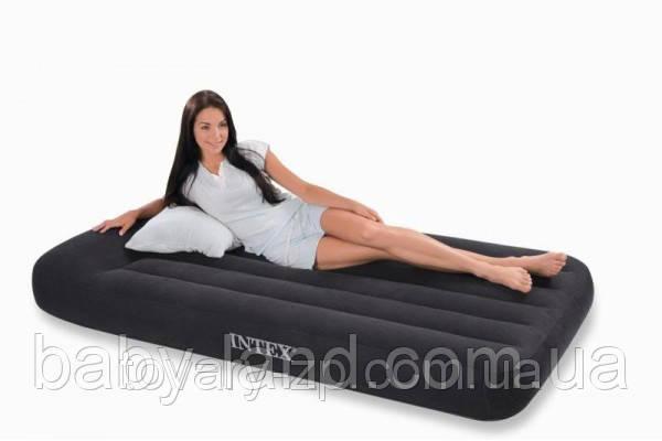 Ліжко матрац надувний з вбудованим насосом 220V Intex 66779
