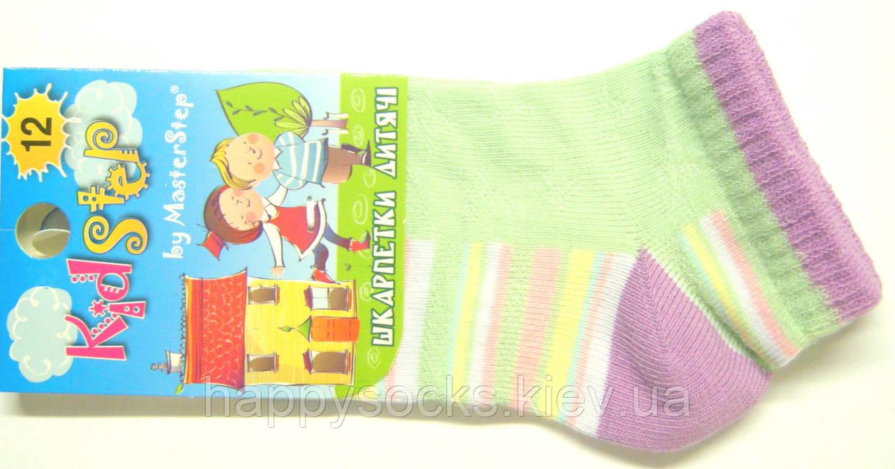 Носки детские короткие на маленьких салатовые