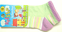 Носки детские короткие на маленьких салатовые, фото 1