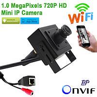 Миниатюрная IP WiFi камера 720P, поддержкой ONVIF, P2P, облачного сервиса, Iphone и Android (модель BT01W)