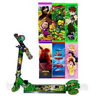 Самокат детский трехколесный мульт Тачки Бен 10 Спайдермен Принцессы Profi BB 3-011