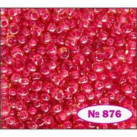 Чешский бисер Preciosa 11396-876, розовый темный, хамелеон