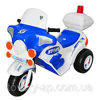 Электромобиль мотоцикл Ямаха детский полицейский аккумулятор Орион 372C