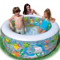Бассейн надувной детский Аквариум Intex 58480