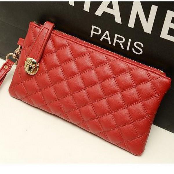 Стильный женский клатч кошелек красного цвета