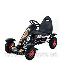 Педальная машина детская веломобиль карт железный Bambi M 1450-2
