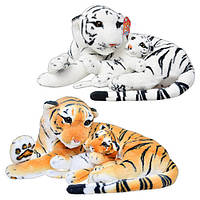 Мягкая игрушка ТИГР с тигренком, 2 цвета