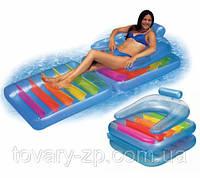 Матраc-кресло для плавания одноместный надувной Intex 58870
