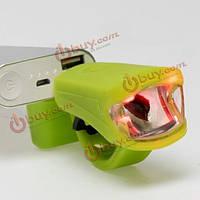 Лампа 3W 250lm LED USB перезаряжаемые вспышки головной свет велосипед задний фонарь стоп задний