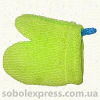Мочалка рукавица короткая петля 0713