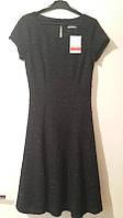 Утонченное женское черное платье-солнце с пайетками