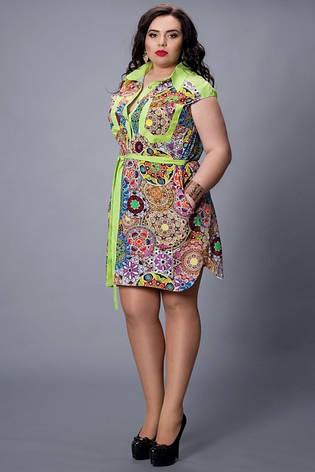 Летнее платье из штапеля большой размер, фото 2