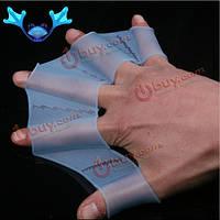 Перепончатые перчатки-ласты тренировочные силиконовые