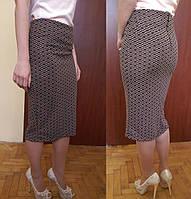 Коричневая юбка с ромбами