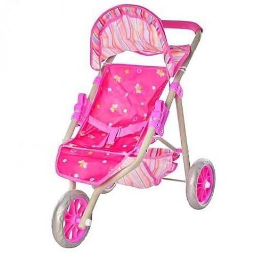 Детская коляска для кукол 417P-104, трехколесная