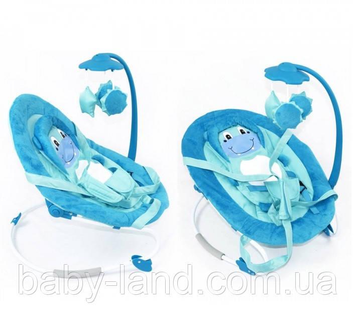 Шезлонг гойдалка з музичної підвіскою дитячий Baby Tilly 0002