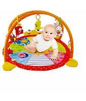 Коврик для младенца развивающий детский мягкий с погремушками 11995