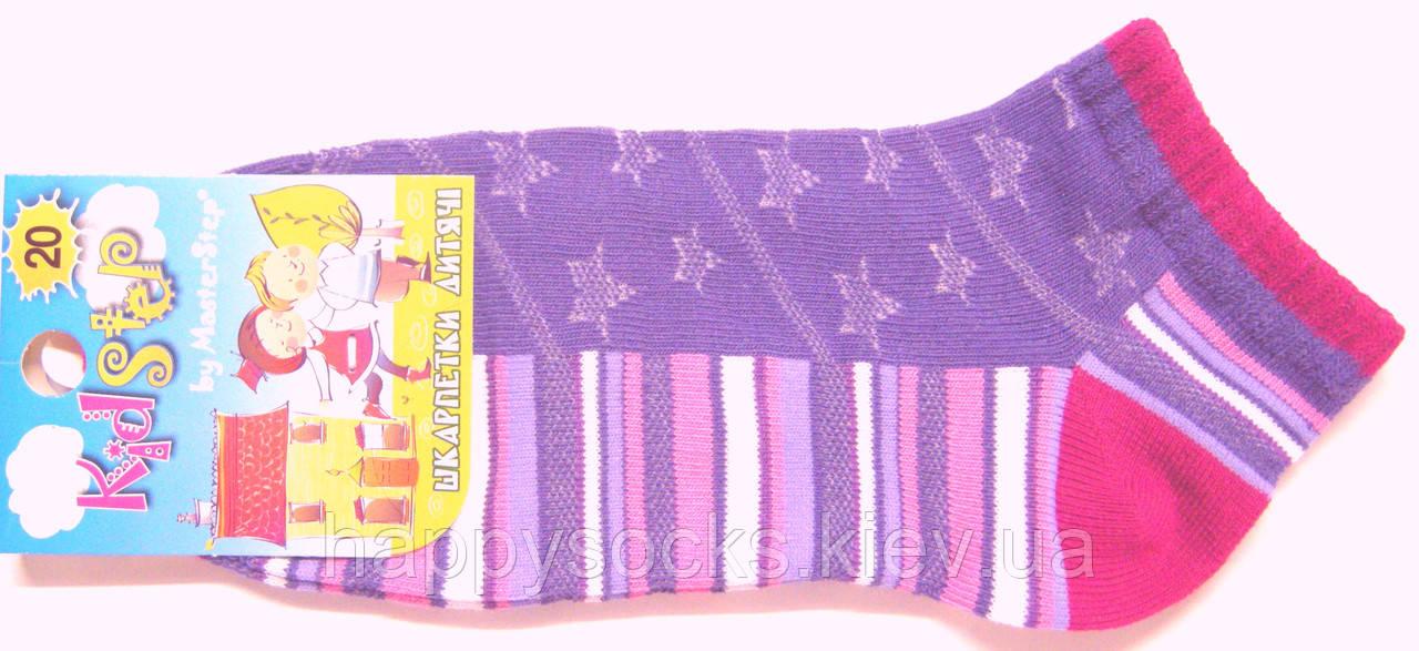 Короткие в сетку носки для девочки сливовые