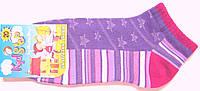 Короткие в сетку носки для девочки сливовые, фото 1