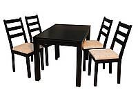 Стол деревянный с прямыми углами-Хайтэк.