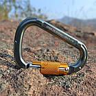 Открытый безопасности пряжки карабин автоматический замок для альпинизма Скалолазание сплава кольцо, фото 2