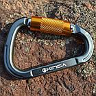 Открытый безопасности пряжки карабин автоматический замок для альпинизма Скалолазание сплава кольцо, фото 3