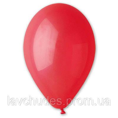 """Воздушные шары ярко - красные 12""""/45 1102-0326 Пастель. Воздушные шары оптом."""