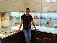 """Скинали - Кухонный фартук """"Модная посуда"""", фото 1"""