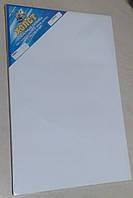 Холст пленерный склейка 10 листов на ДВП 20х30см, мелкое зерно, акрил