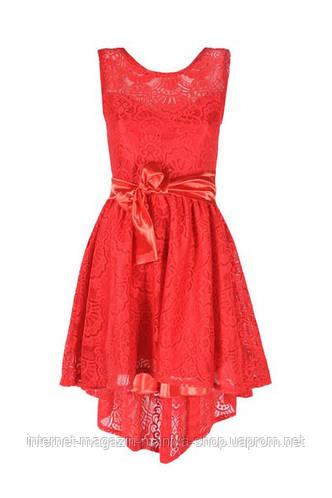 Женское платье асиметрия пояс атлас