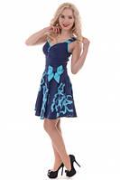 Сарафан-платье женский синий