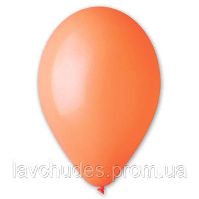 """Воздушные шары оптом 12""""/04  1102-0302 Оранжевые шары оптом. Пастель."""