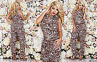 Комбинезон женский летний леопардового принта