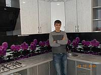 """Скинали - Кухонный фартук """"Орхидея розовая"""""""