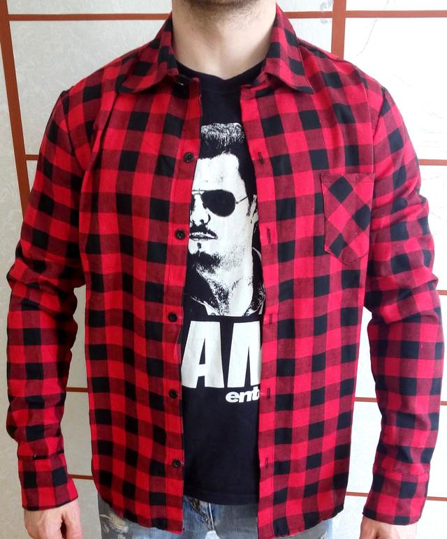 фото мужская рубашка в клетку
