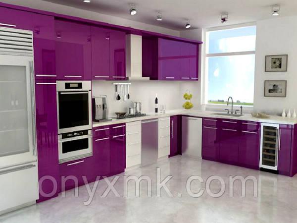 Фиолетовая кухня в современном интерьере Харьков