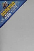 Холст на подрамнике 40х50см Лен Среднее зерно, акриловый грунт