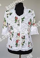 Нарядная женская блузка в цветочный принт