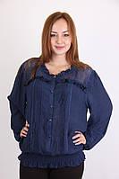 Красивая легкая женская блуза синего цвета