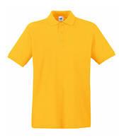 Футболка мужская Поло - 63-218-34 солнечно-желтая