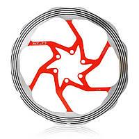 Ротор XLC BR-X58, ø180 мм. серебристо-красный (ST)