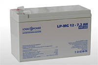 Аккумулятор мультигелевый 12V 7,2Ah LogicPower LP-MG 12-7,2