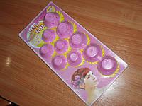 Бигуди Rollers DIY ролики силиконовые розовые (10 шт) мягкие удобные Silicone укладка Hair Curlers Stylin