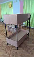 Детская двухъярусная кровать для дошкольных учреждений
