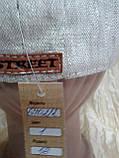 Чоловіча восмиклинка молочний льон з нашивкою на потилиці кепки 59-60, фото 4