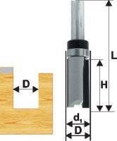 Фреза кромочная прямая ф19х26, хв.8мм, по ДСП (арт.28063)