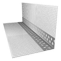 Алюминиевый Уголок перфорированный с сеткой Премиум 7*7, 3м